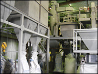 The grinding facility
